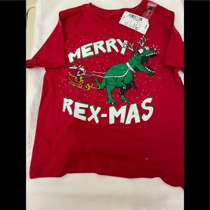 """💙2/$15 Children's Place Toddlers """"Merry Rex-Mas"""""""